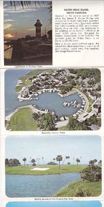 Folder postcard , HILTON HEAD , South Carolina , 50-70s