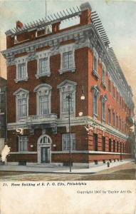 Philadelphia PA~Home Building of B P O Elks~Roof Garden 1910 Postcard