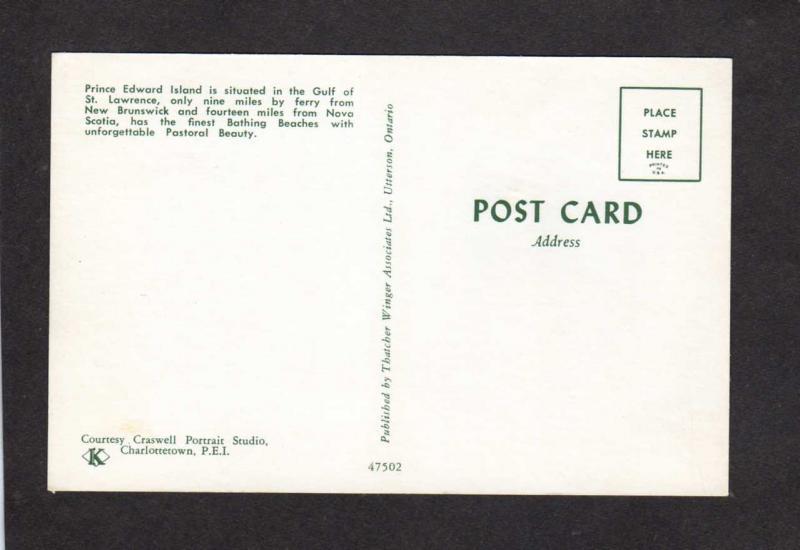 PEI Greetings From  PRINCE EDWARD ISLAND CANADA Carte Postale Postcard Beach