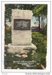 Monument to the Sacred Memory of Canadian Jesuit Martyrs, Midland, Ontario, C...