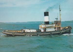 St Denys Tug Ship Painting Falmouth Maritime Museum Postcard