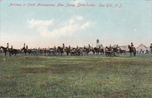 New Jersey Sea Girt Artillery In Field Manoeuvres New Jersey State Camp