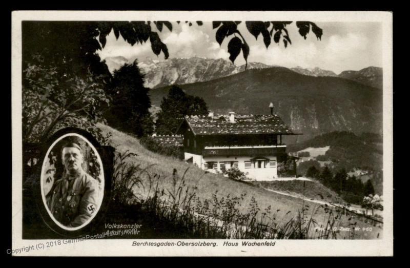 3rd Reich Germany Berghof Wachenfeld Hitlers House at Obersalzberg RPPC 88997