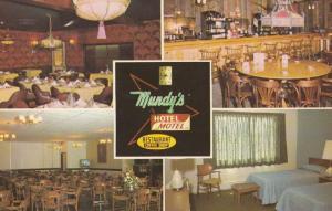 Mundys Hotel Motel Upper James Street Hamilton Ontario Vintage Postcard