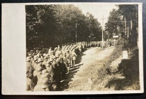 Mint Germany Real Picture Postcard RPPC Soldiers Marching
