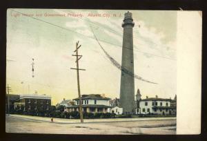 Atlantic City, New Jersey/NJ Postcard, Light House & Government Property,