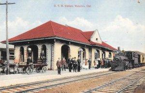 Waterloo Ontario Canada GTR Depot  Train Station Vintage Postcard AA4254