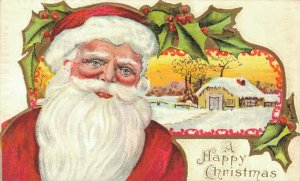 A Happy Christmas Embossed Santa Claus 04.02