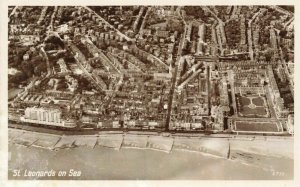East Sussex Vintage Postcard, St Leonards On Sea from the Air, Aerial View JU7