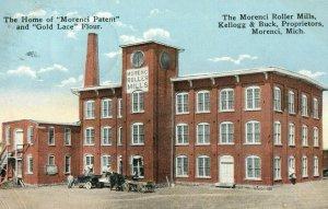 C.1910 Morenci Roller Mills, Mich. Gold Lace Flour Vintage Postcard P120