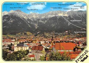 Innsbruck mit Nordkette Gesamtansicht Frau Hitt Seegrube Nordkettenbahn