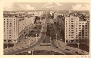 Berlin Stalinallee Street Vintage Cars Voitures Panorama