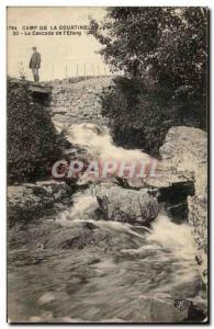 Old Post Card Camp La Courtine The I Pond Waterfall