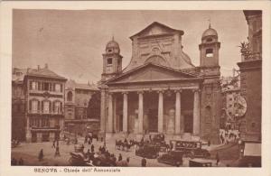 GENOVA, Ligura, Italy, 1900-1910´s; Chiesa Dell'Ammunziafa, Horse Carriages,...
