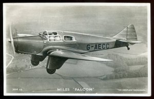 h2075 - AIR FORCE 1940s Miles FALCON Monoplane. Real Photo Postcard