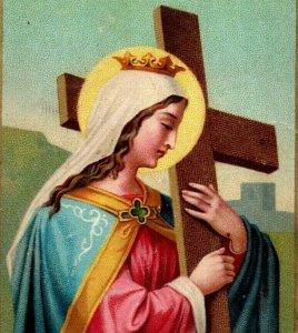 1880s-90s Religious Gebet German St. Helena P222