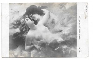 Dans Les Nuages Lovers In The Clouds Adolphe La Lyre Neurdein ND Photo Postcard