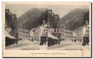 Stereoscopic Card - Cauterets - Place de l Hotel de Ville - Old Postcard