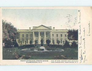 Pre-1907 Very Early View FRONT ENTRANCE TO WHITE HOUSE Washington DC hp9320