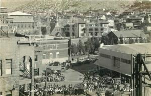 Autos Bisbee Arizona 1940s RPPC Photo Postcard Street Scene 3321