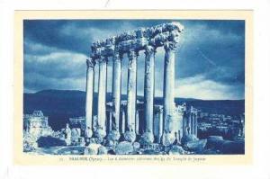 Les 6 Dernieres Colonnes Des 4 Du Temple De Jupiter, Baalbek, Syria, 1900-1910s