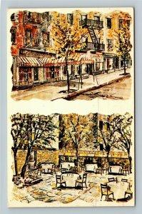 New York City NY-New York, Italianissimo Restaurant, Chrome c1970 Postcard