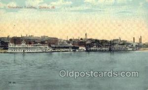 Steamboat Landing, Quincy, Illinois, USA Ferry Boats, Ship, Ships, Postcard P...