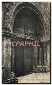 Old Postcard Salon Portal Of I & # 39Eglise St Michel