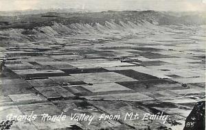 RPPC Grande Ronde Valley from Mt Emily near La Grande OR Oregon,  EKC Real Photo