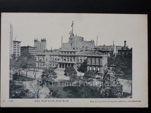 USA: NEW YORK CITY - City Hall Park c1905 UB