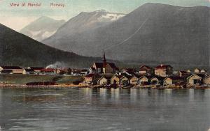 View of Mandal, Norway, Early Postcard, Unused