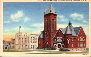 North Carolina Greensboro West Market Street Methodist Church Curteich