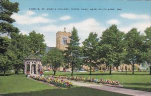 Indiana South Bend Notre Dame Campus St Mary's College 1950