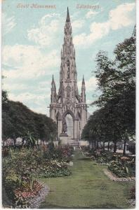 Post Card Scotland Edinburgh Scott Memorial 1910