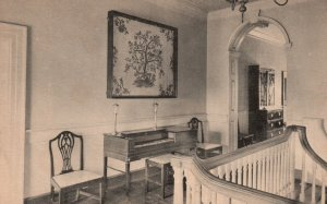 Fredericksburg, Virginia, VA, Upstair Hall at Kenmore, Vintage Postcard g8158