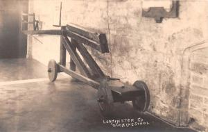 LEOMINSTER HEREFORDSHIRE UK DUCKING STOOL~PUNISHMEN~W A CALL REAL PHOTO POSTCARD