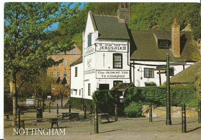 Nottinghamshire Postcard - Ye Olde Trip to Jerusalem Inn - Nottingham  AB227