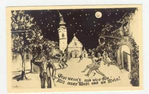 Vienna, Austria, 1910-20s, RP Erst Wenn's Aus Wird Sein Mit Aner Musi Und An ...