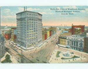 Divided-Back VIEW OF STREET Detroit Michigan MI n1722