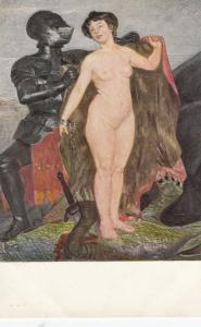 Jugend Art-PC , Munchen , Germany , 00-10s ; Knight & Nude Woman