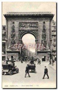 Old Postcard Paris Porte Saint Denis