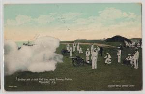 Drilling with 5 Field Gun, Naval Training Stat, Newport RI