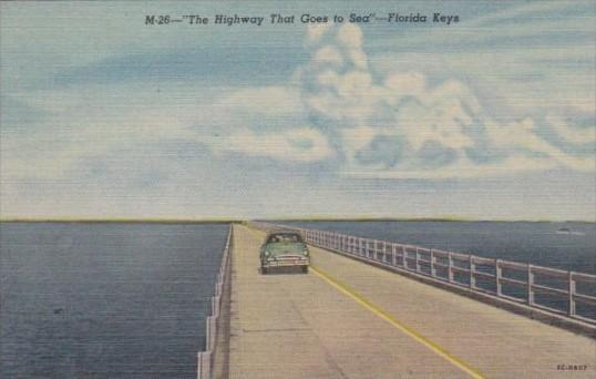 Florida Seven Mile Bridge The Highway The Goes To Sea In The Florida Keys Cur...