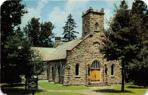 Big Moose New York~Community Chapel~Built of Natural Stone from Dart Mtn~c1950s