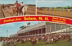 New Hampshire Greetings From Salem Home Of The Sweepstakes Rockingham Park