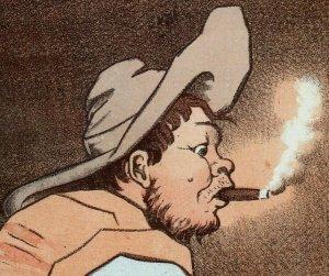 1880's-90's J.L. Boardman Baker People Smoking Cigars Charlestown Lot Of 4 P200