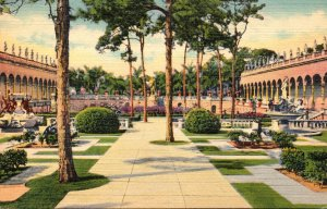 Florida Sarasota Ringling Art Museum Inner Court Curteich