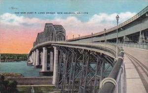 Louisiana New Orleans New Huey P Long Bridge 1936
