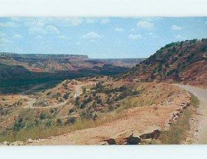 Pre-1980 COUNTRY ROAD Palo Duro Canyon - Near Amarillo Texas TX AD6206