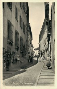 Switzerland Lugano via Cattedrale RPPC 03.37
